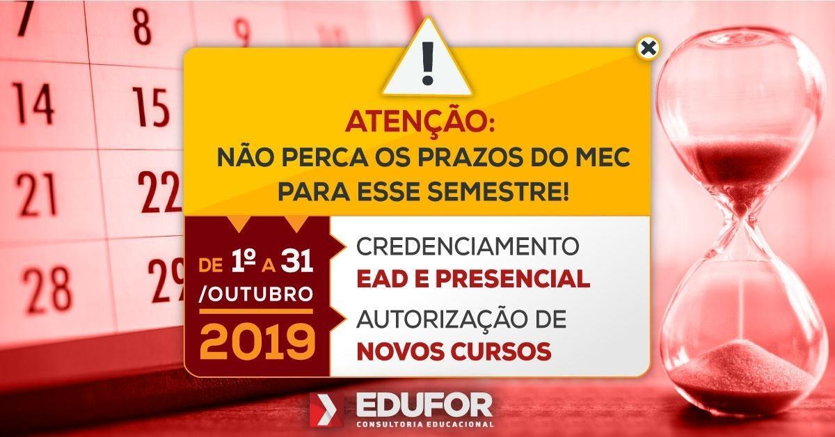 NÃO PERCA OS PRAZOS DO CALENDÁRIO DE ATOS REGULATÓRIOS PARA ESSE SEMESTRE (2019.2)