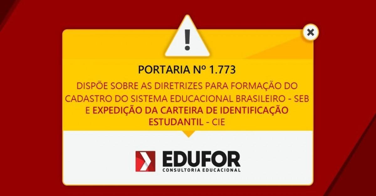 MEC publica portaria sobre formação do cadastro do Sistema Educacional Brasileiro - SEB