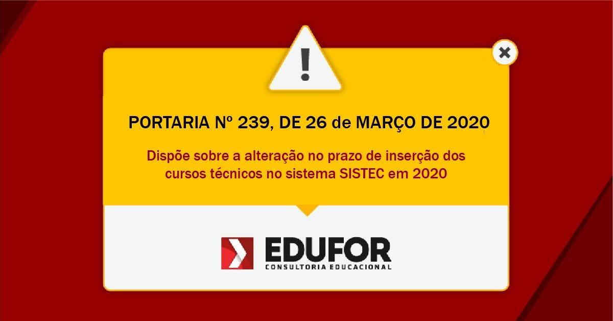 PORTARIA Nº 239, DE 26 DE MARÇO DE 2020