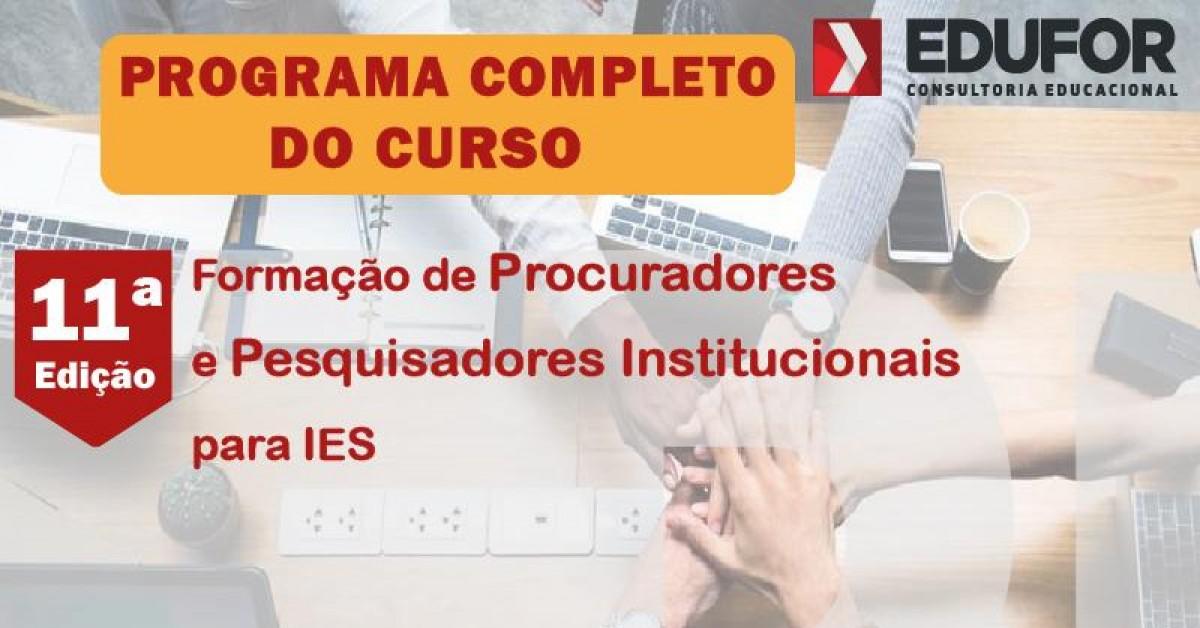 Lançado o conteúdo programático da 11º edição do curso de PIs
