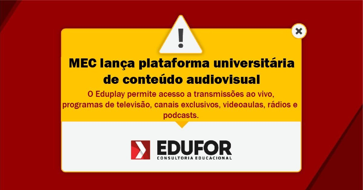 MEC lança plataforma universitária de conteúdo audiovisual